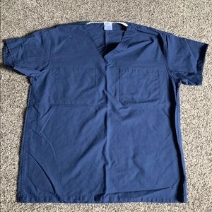 Small Navy Blue Scrub Top